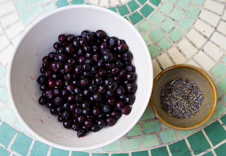 Huckleberries and lavender