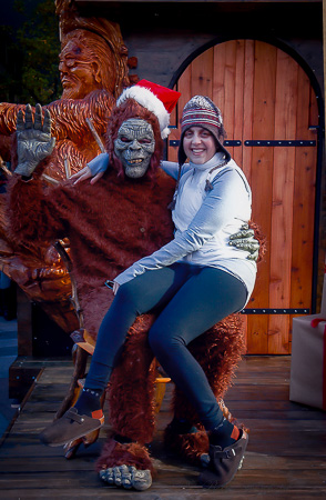 Meeting the sasquatch with Mama