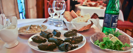 Armenian table with dolma