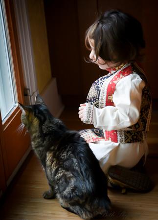 In her Armenian costume
