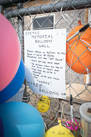 Ballard memorial balloon wall