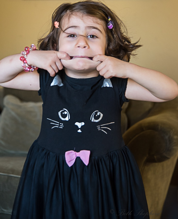 Birthday girl at 4