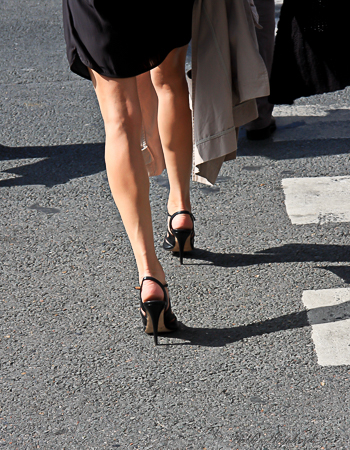 Heels in Paris from behind