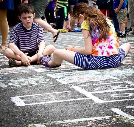 Kids in stripes