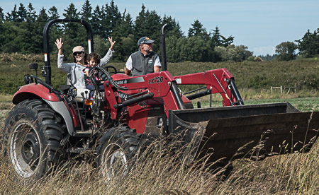 Out in the fields on Whidbey Island