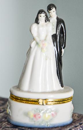 Bride and groom token box