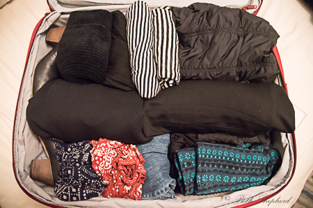 Royal Robbins dress in suitcase