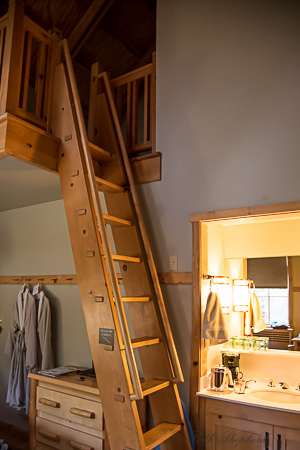 Ladder to loft