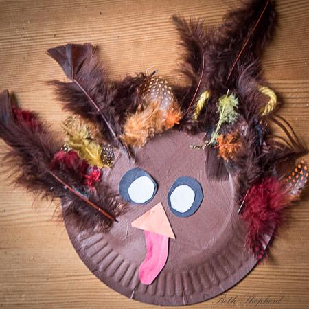 Kid art for Thanksgiving