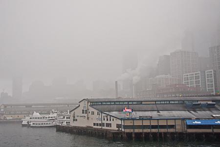 Ivars restaurant in the fog