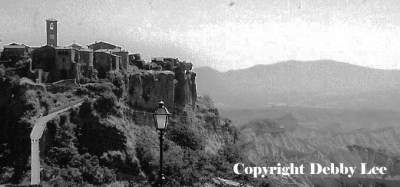 Civita di Bagnoregio black and white photo