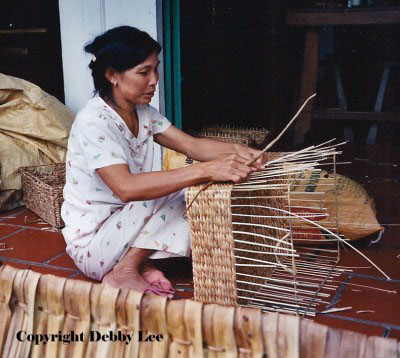 Basket Weaving Woman Vietnam