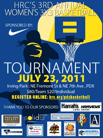 The Human Rights Campaign Presents: Portland Women's 3×3 Basketball Tournament