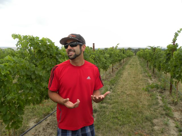 Castillo de Feliciana Winemaker in Vineyard