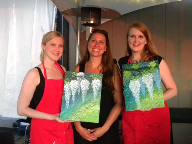 Of Best Friends, Birthdays, and Pairing Painting with Wine