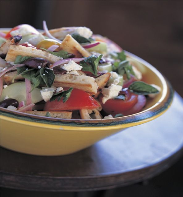 Veggie & Grilled Pita Greek Salad