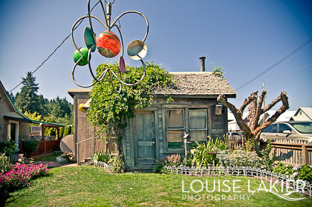 Miner's Shack, Rosln, Washington, Small Houses, Garden Art, Weathered Wood