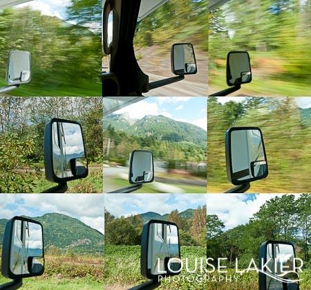 RV, Rear View Mirror, VCMBC, Vancouver, British Columbia, Road Trip