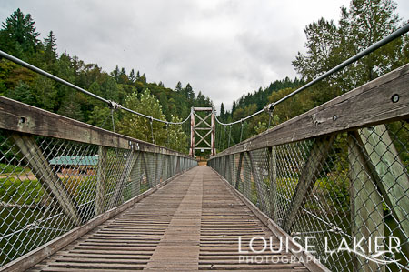 Suspension Bridge, Snoqualmie River, Tolt MacDonald Park, Washington, King County Parks, Camping, Shipping Container Cabin