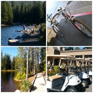 Hiking at Trillium Lake, biking and golf at The Resort.