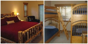 The master suite and bunk room