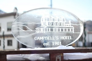 Campbells sign in ice