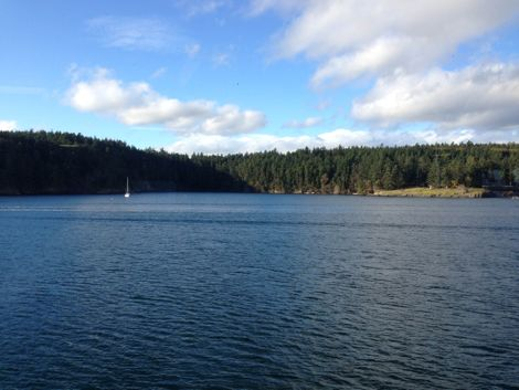 View from Friday Harbor Ferry