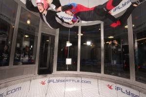 going up in the iFly tunnel