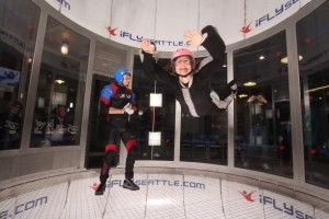 solo flying at iFly Seattle