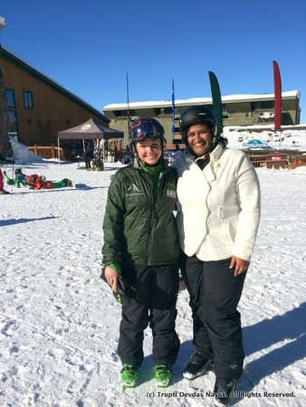 With Beth on the beginner slopes
