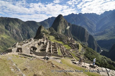 Machu Picchu in wide angle