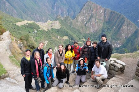 Our amazing group at Machu Picchu