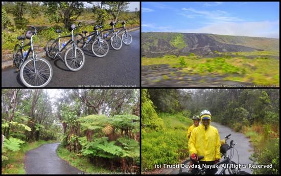 Biking Kilauea Volcano