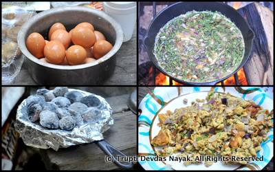 Camping Eggs Breakfast