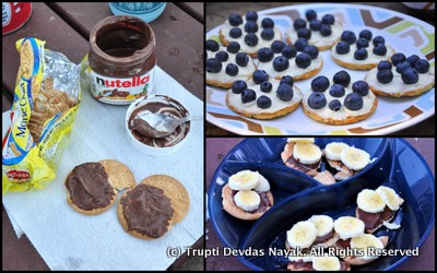 Nutella Biscuits Cheese Camping