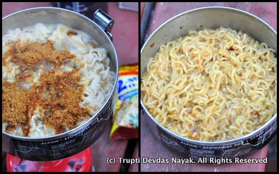 Spicy Indian Noodles Maggi Camping