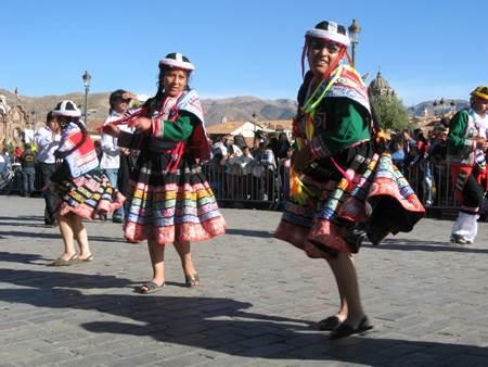 Colorful Dancers Inti Raymi Festival