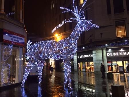 Giant Reindeer Birmingham UK