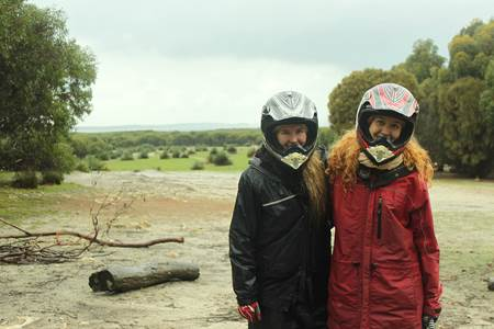 Jade and Lauren ATV Adventure Kangaroo Island