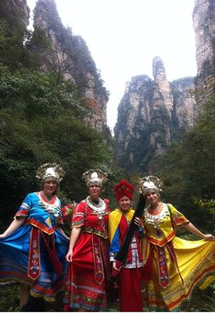 Dachong Girls in Costume in Zhangjiajie