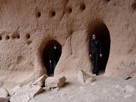 Amy and Alethea at Bandelier