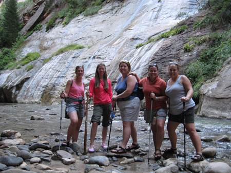Girlfriends at Zion Narrows