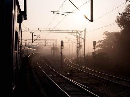Misty Sunrise on a Morning Train to Chennai