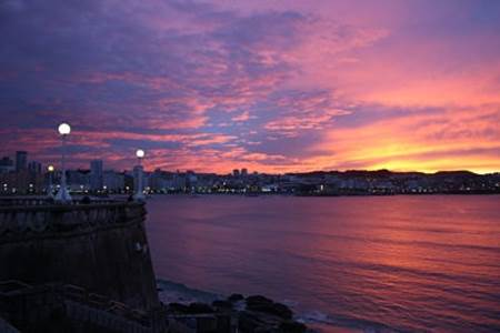 Sunset over La Coruña