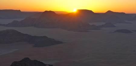 Sunrise on Wadi Rum Jordan