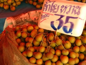Longan, one of many lovely Thai fruits