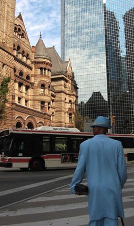 Toronto Man in Blue