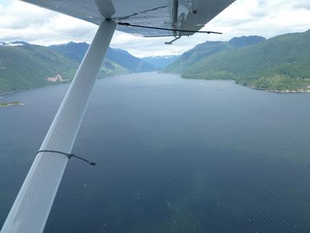 Airplane wing looks like Alaska