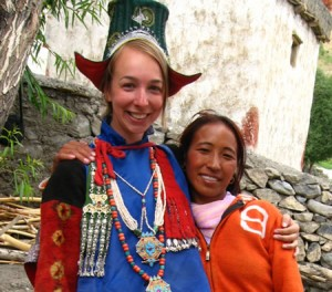 Angela and Lobsang in India