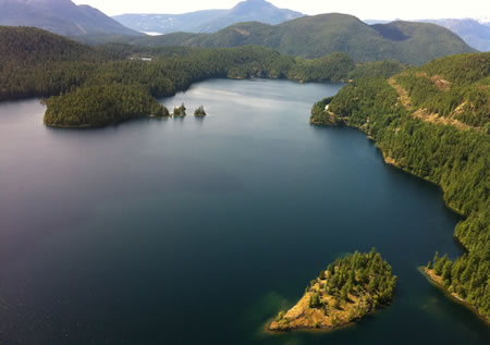 Stunning view of BC's Sunshine Coast